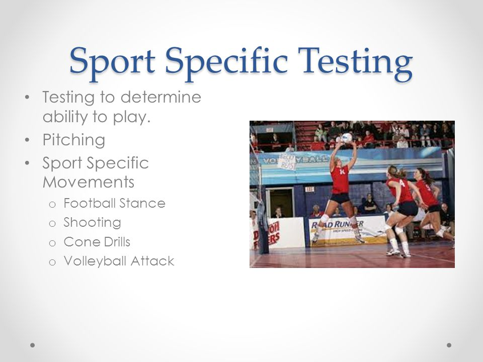 Sport Specific Testing