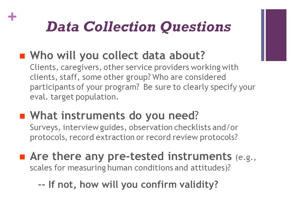Data Collection Questions
