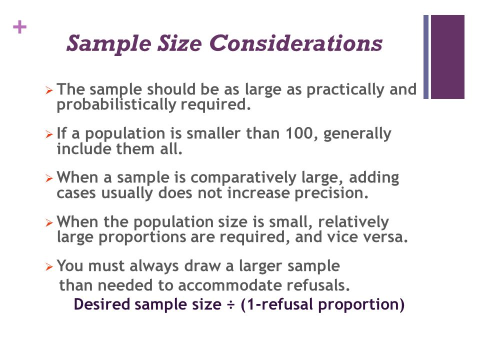 Sample Size Considerations