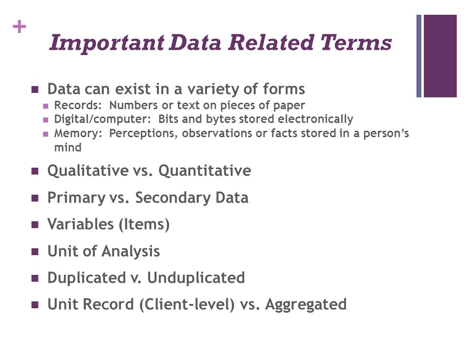 Important Data Related Terms