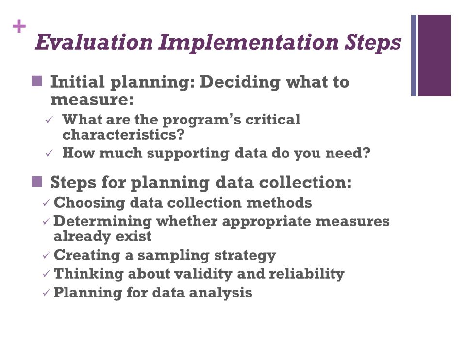 Evaluation Implementation Steps