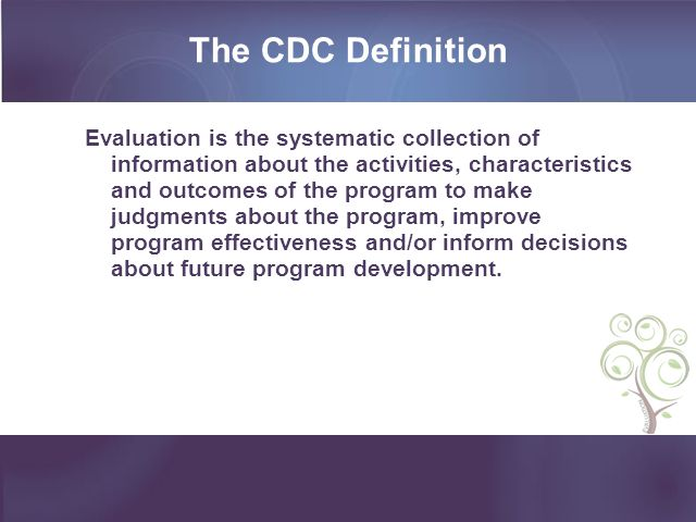 The CDC Definition