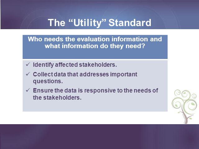 The Utility Standard