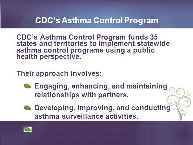 CDC's Asthma Control Program