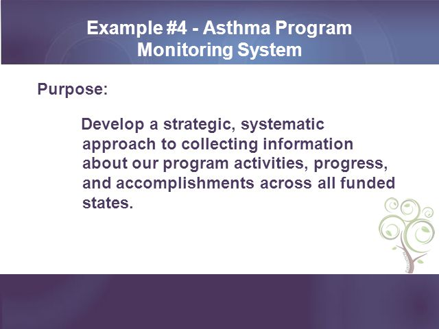 Example #4 - Asthma Program Monitoring System
