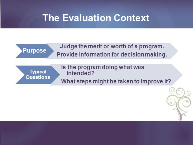 The Evaluation Context