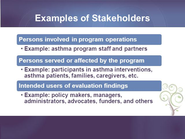Examples of Stakeholders