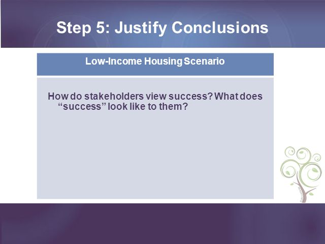 Step 5: Justify Conclusions