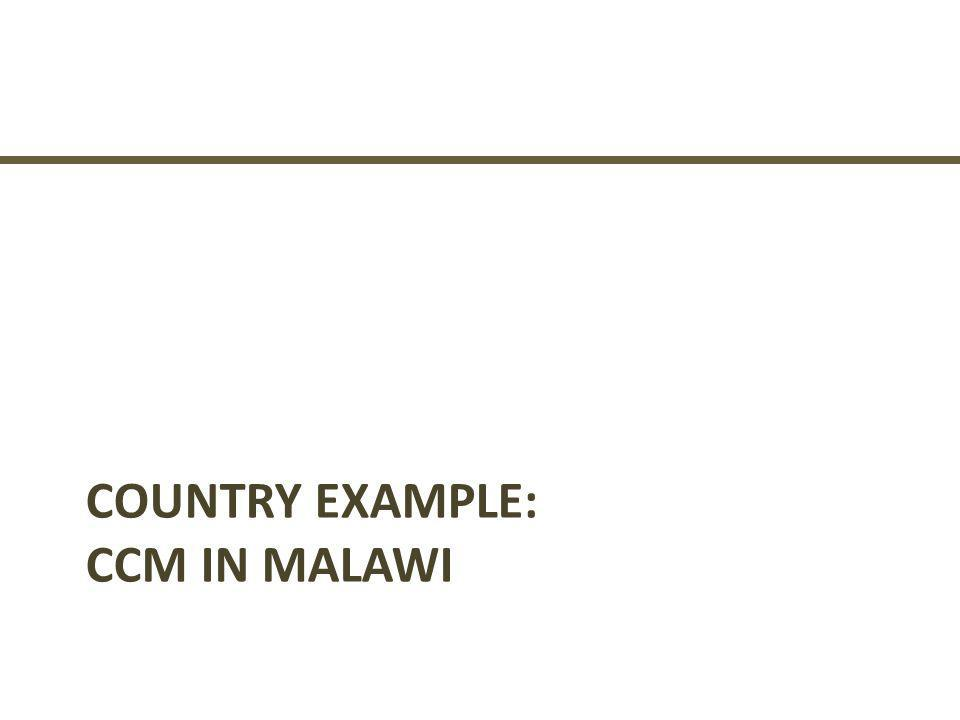 Country Example: CCM in Malawi