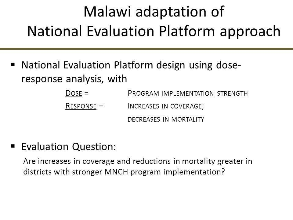 Malawi adaptation of National Evaluation Platform approach