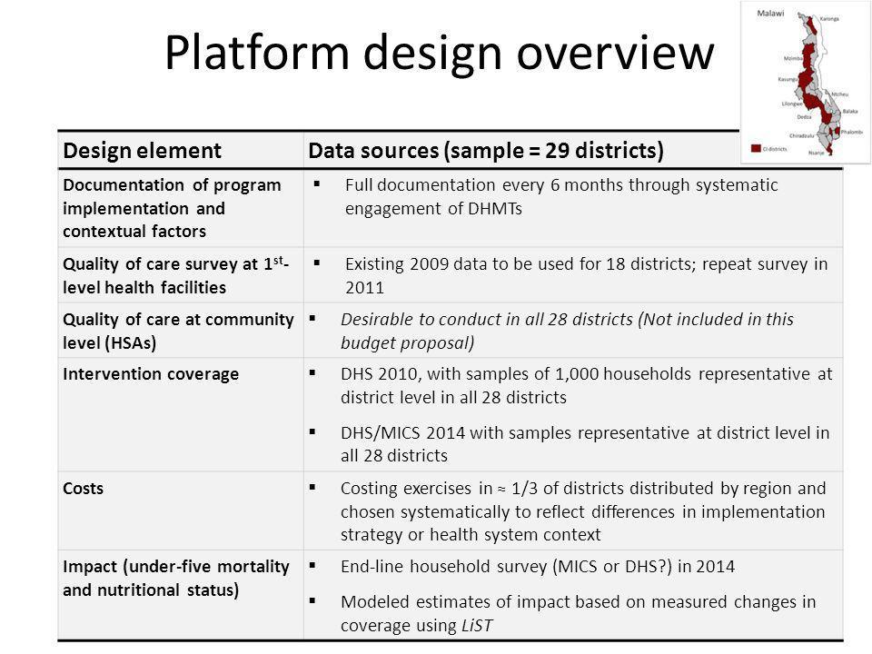 Platform design overview