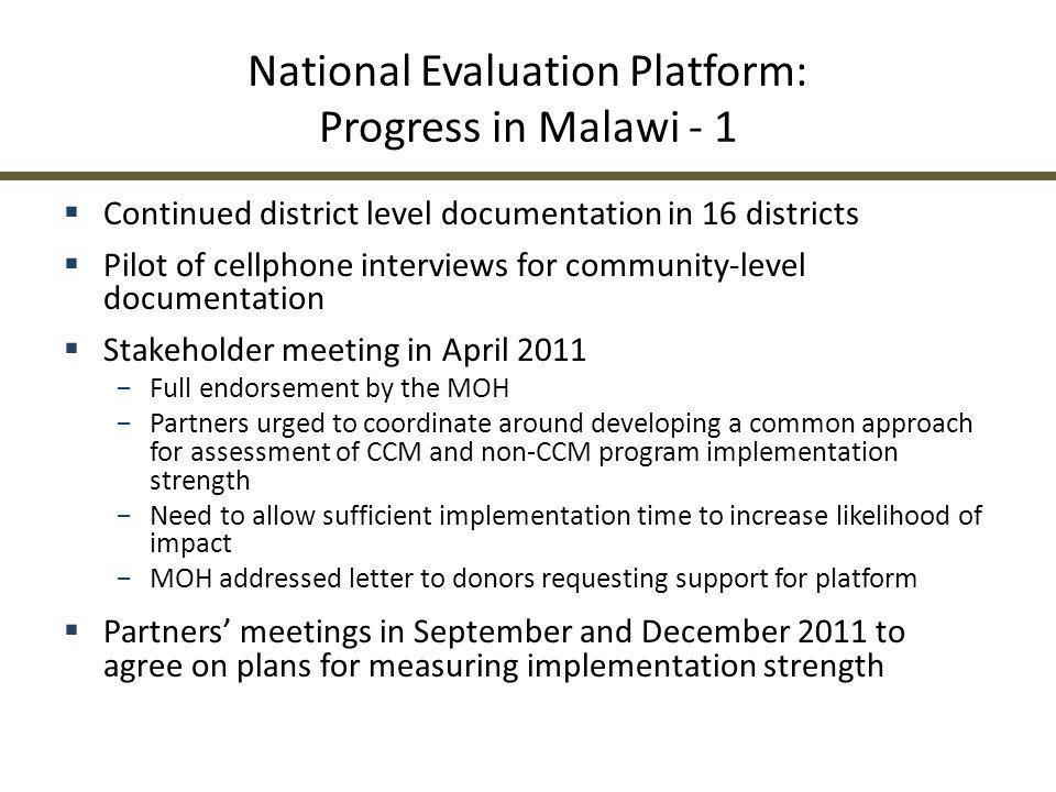 National Evaluation Platform: Progress in Malawi - 1