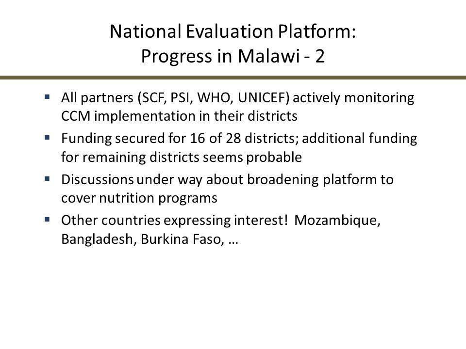 National Evaluation Platform: Progress in Malawi - 2