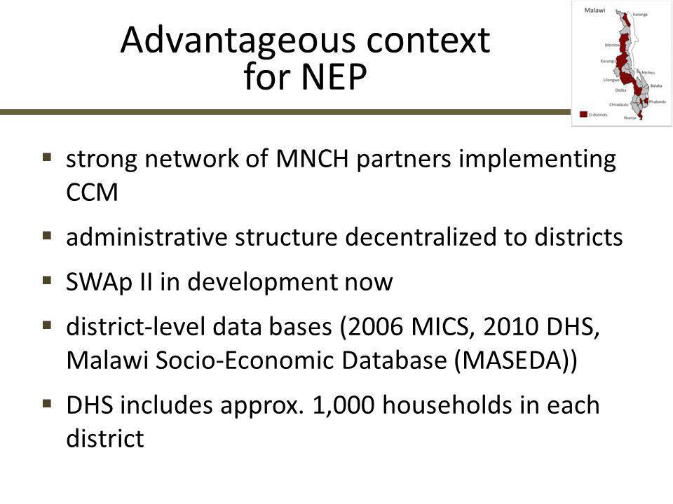 Advantageous context for NEP