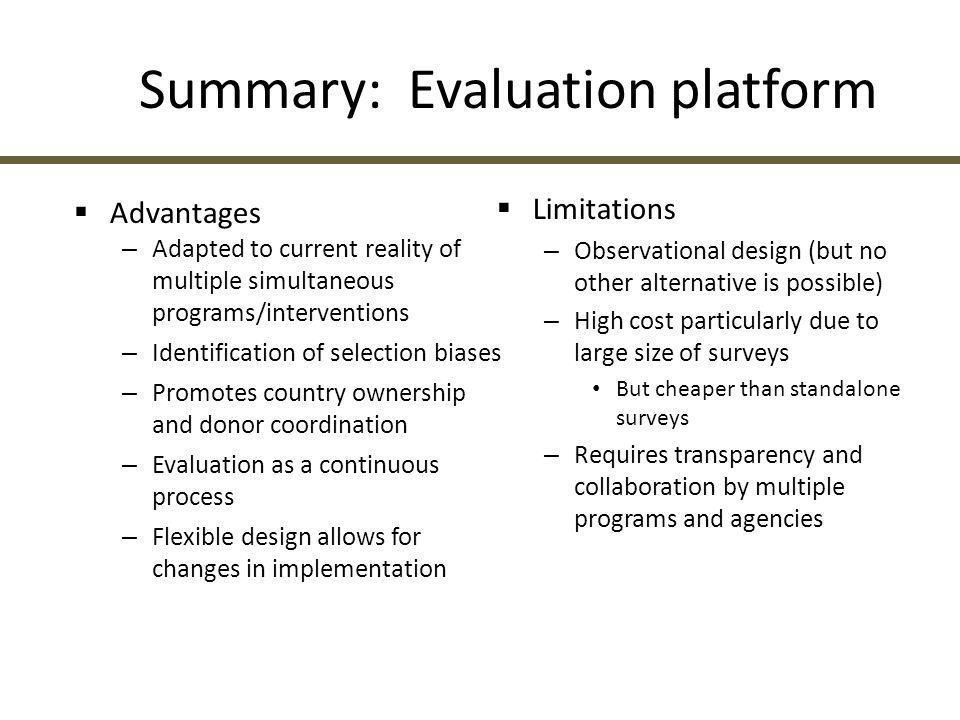 Summary: Evaluation platform