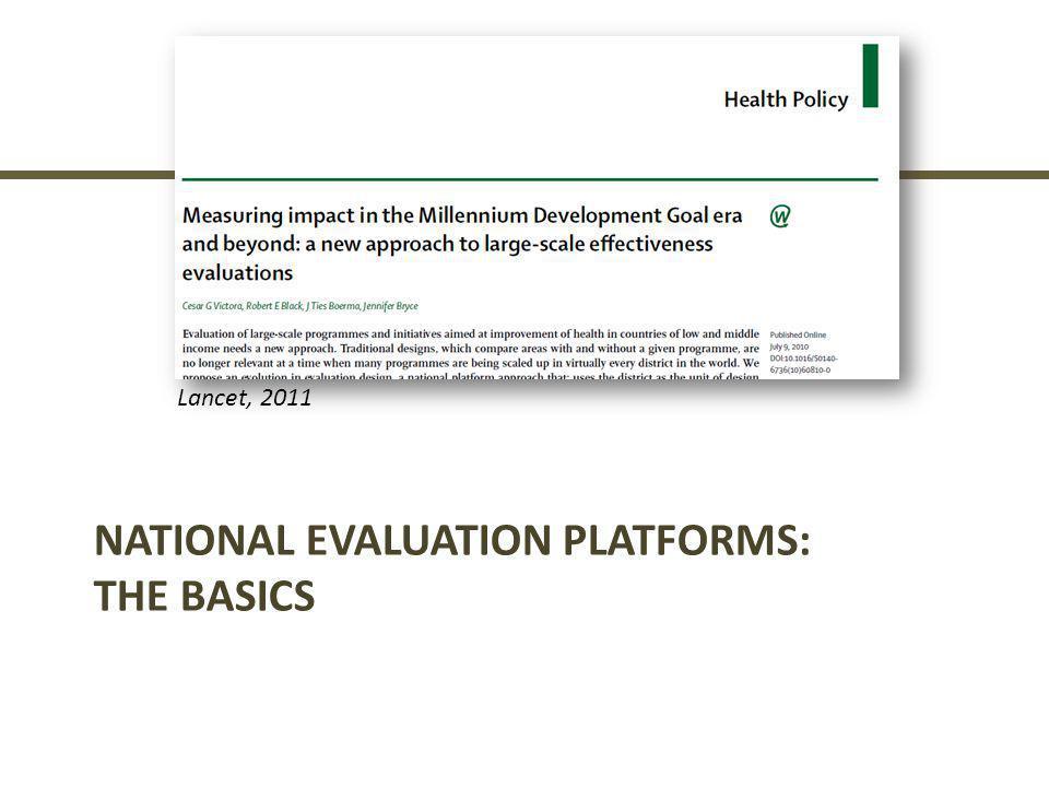 National Evaluation Platforms: The Basics