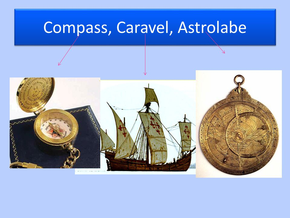Compass, Caravel, Astrolabe