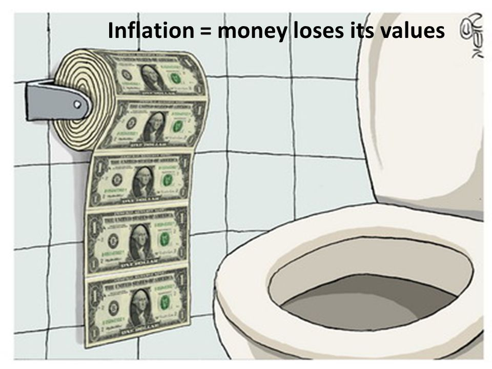 Inflation = money loses its values