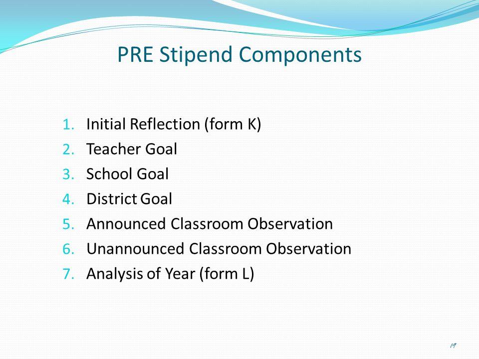 PRE Stipend Components