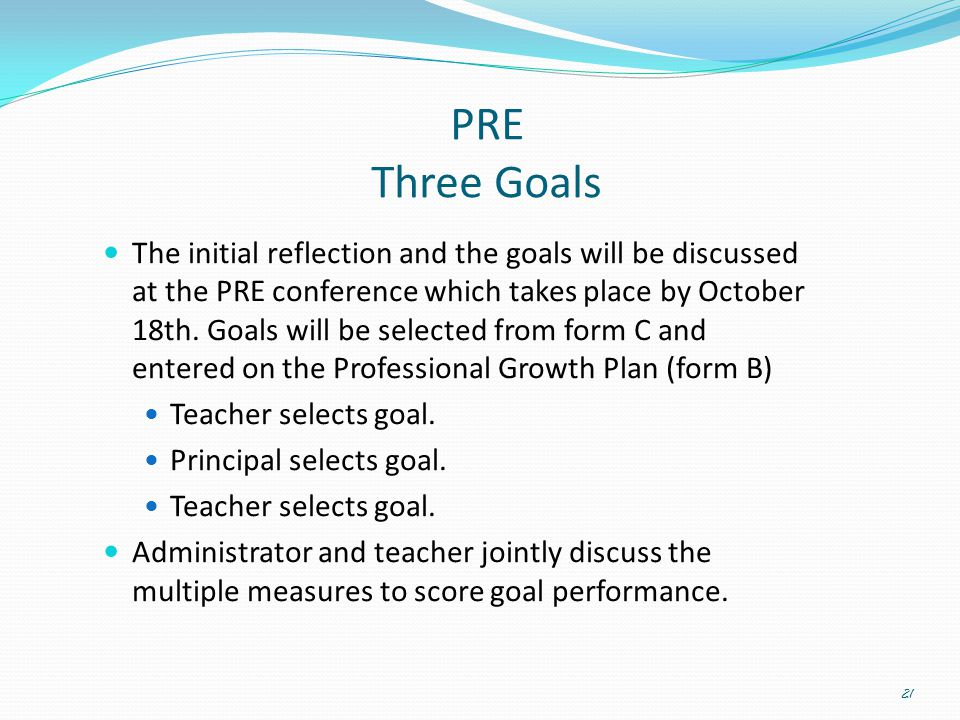 PRE Three Goals