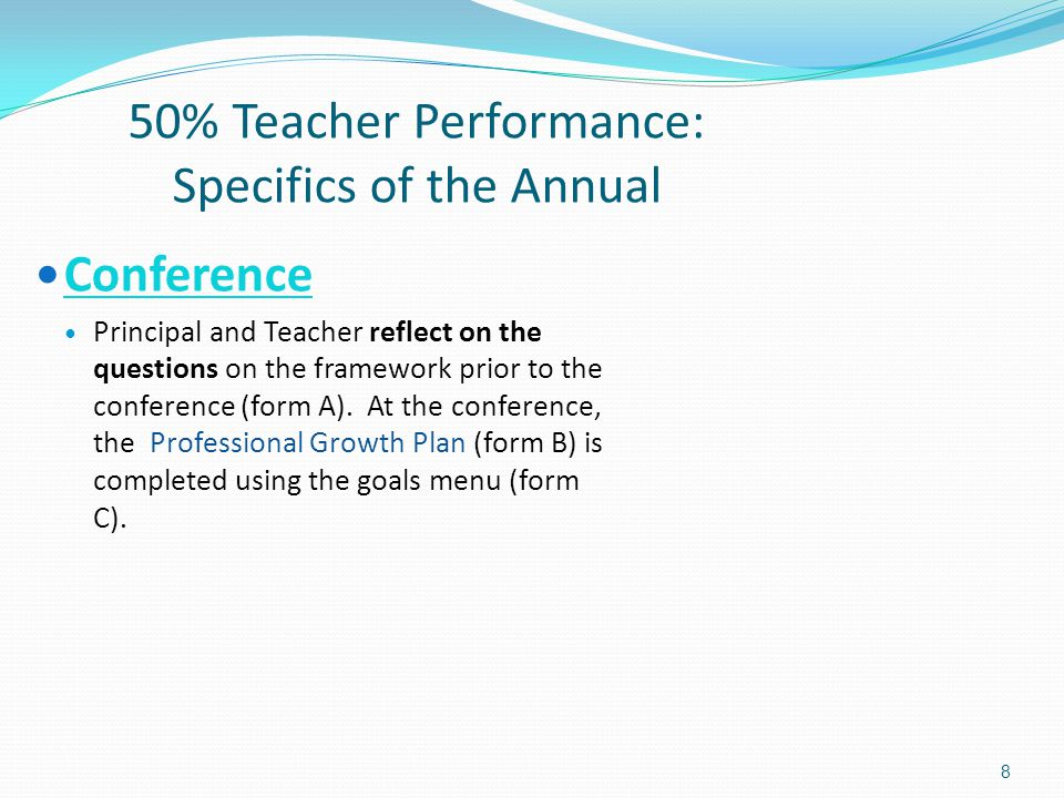 Evaluation Orientation Meeting Teacher Evaluation System - Ppt