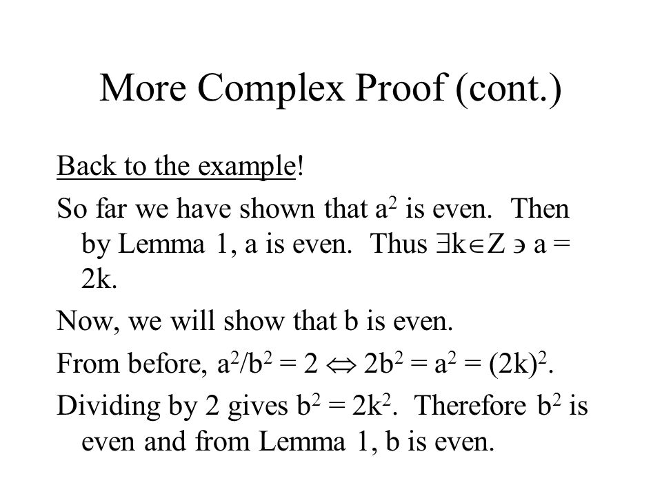 More Complex Proof (cont.)