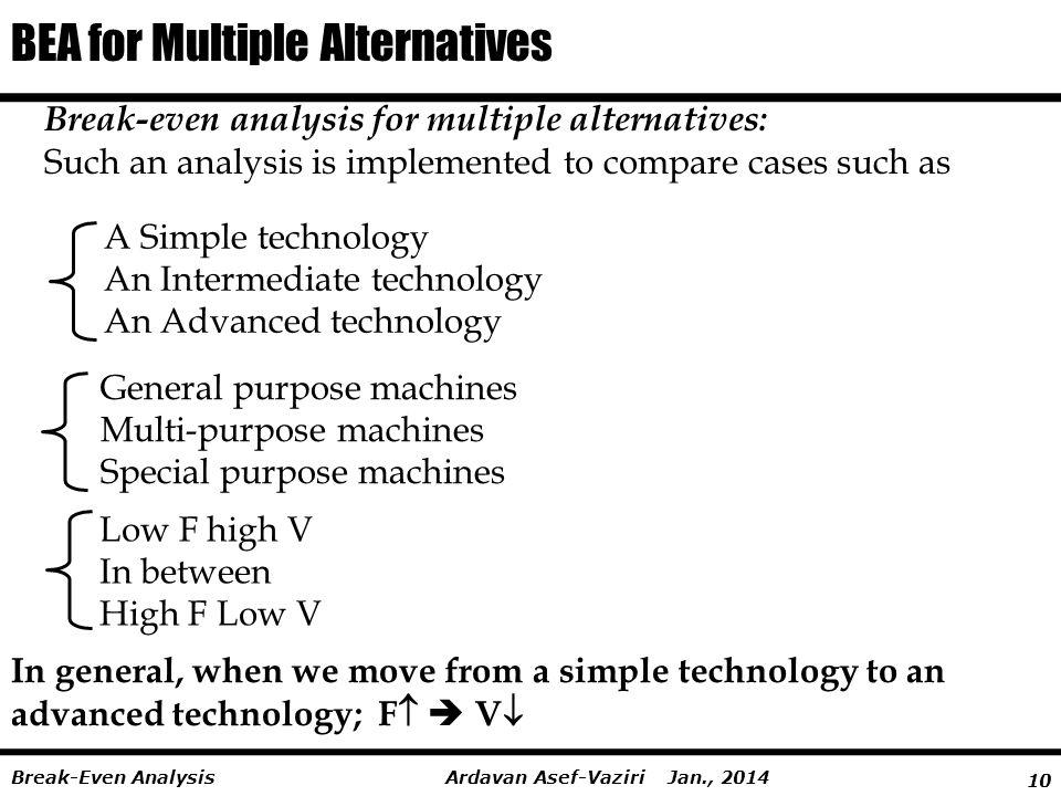 BEA for Multiple Alternatives