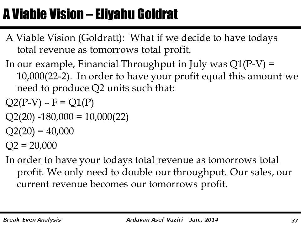 A Viable Vision – Eliyahu Goldrat