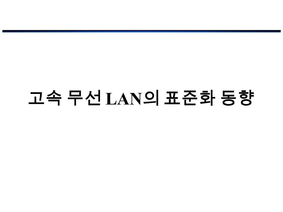고속 무선 LAN의 표준화 동향
