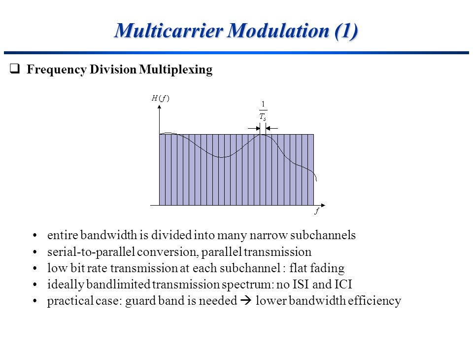 Multicarrier Modulation (1)