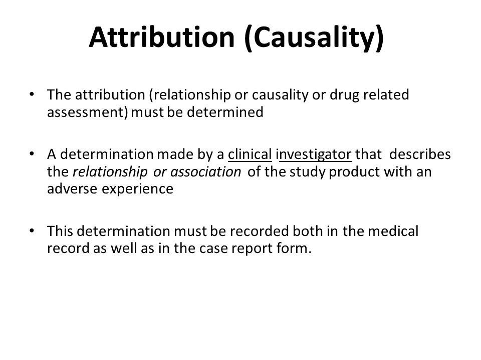 Attribution (Causality)