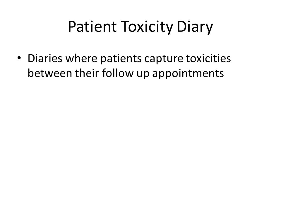 Patient Toxicity Diary