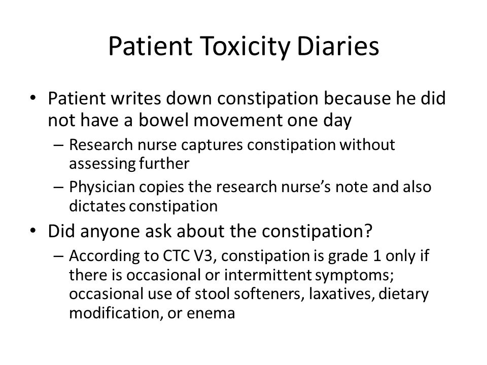 Patient Toxicity Diaries