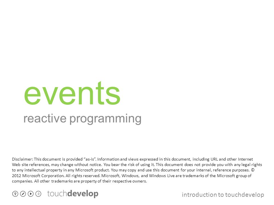events reactive programming