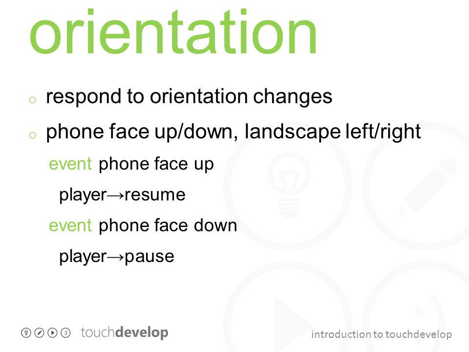 orientation respond to orientation changes