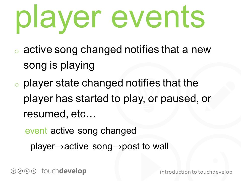 player events active song changed notifies that a new song is playing