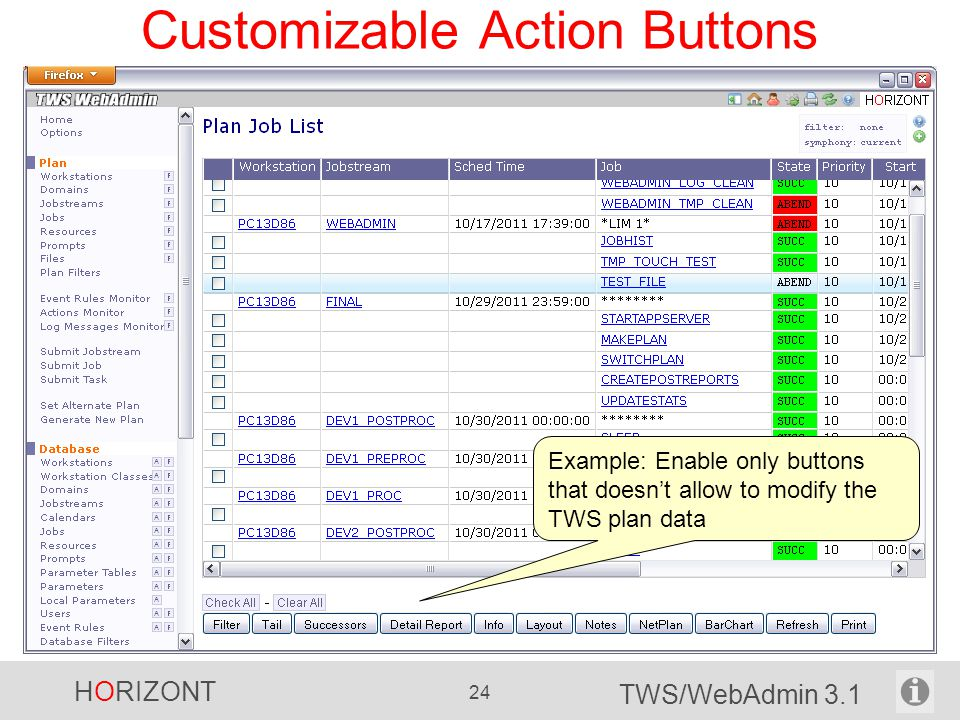 Customizable Action Buttons
