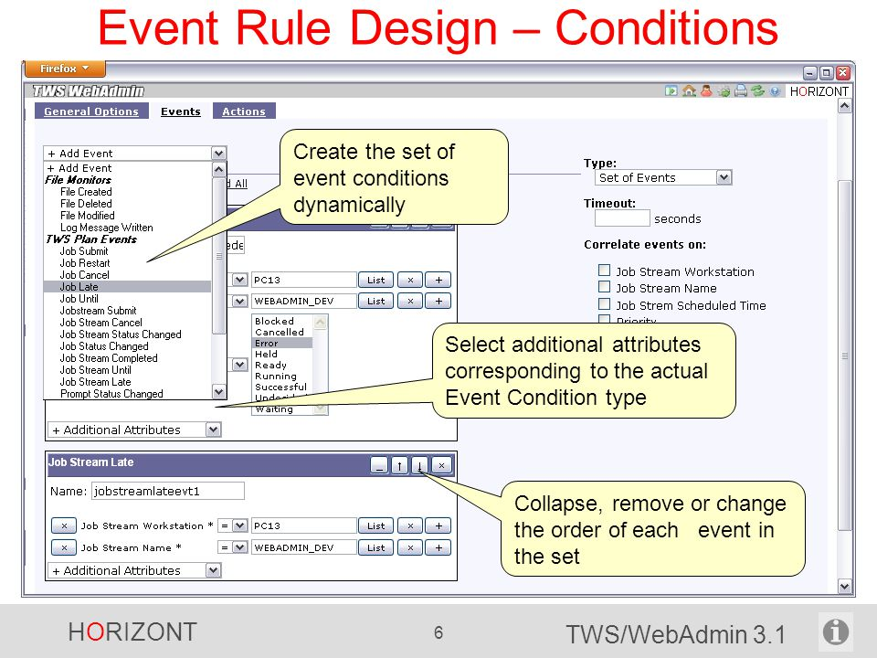 Event Rule Design – Conditions