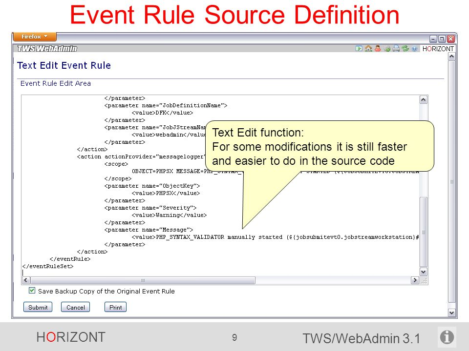 Event Rule Source Definition