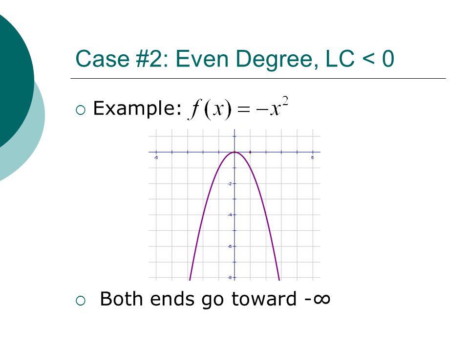 Case #2: Even Degree, LC < 0