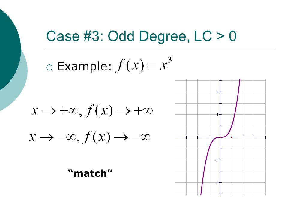 Case #3: Odd Degree, LC > 0