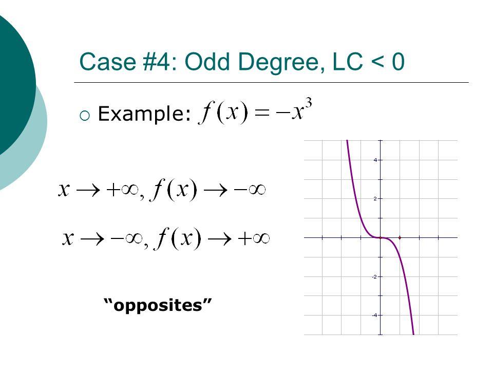 Case #4: Odd Degree, LC < 0