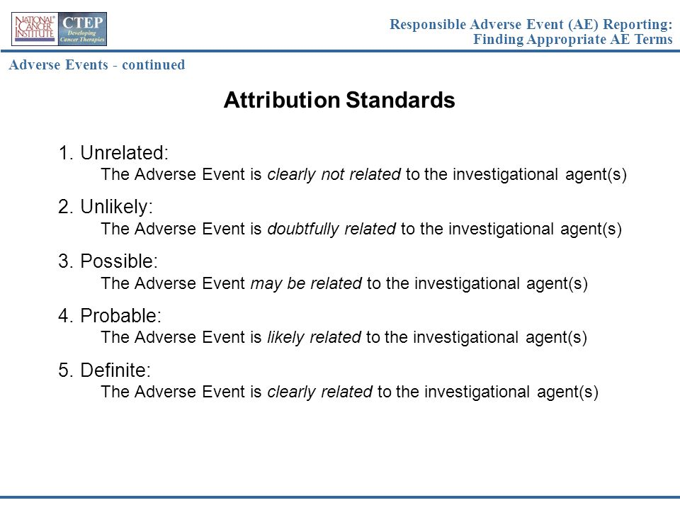 Attribution Standards