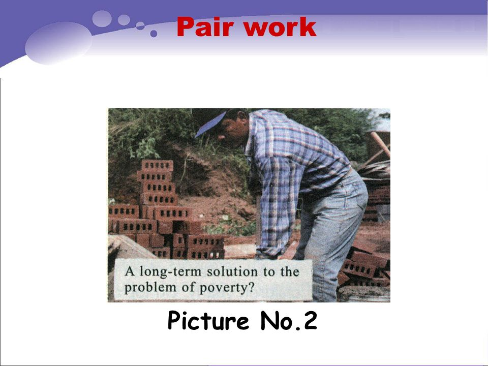 Pair work Picture No.2