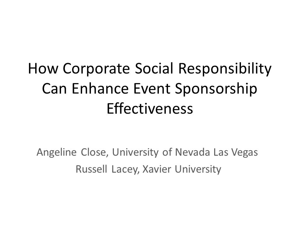 How Corporate Social Responsibility Can Enhance Event Sponsorship Effectiveness