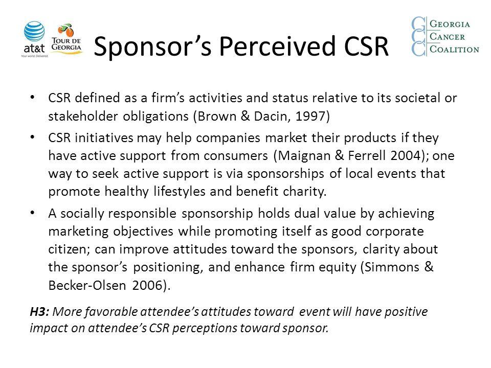 Sponsor's Perceived CSR
