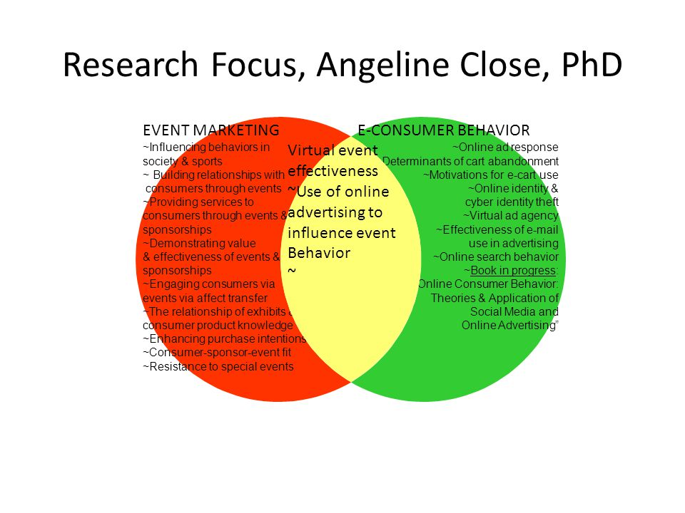 Research Focus, Angeline Close, PhD