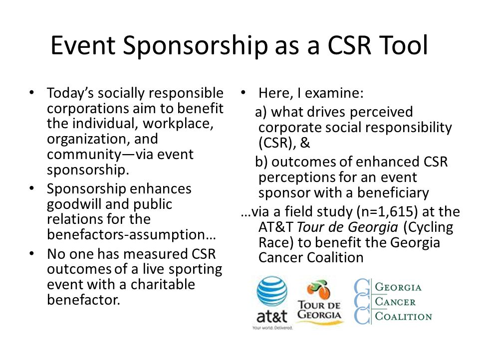 Event Sponsorship as a CSR Tool