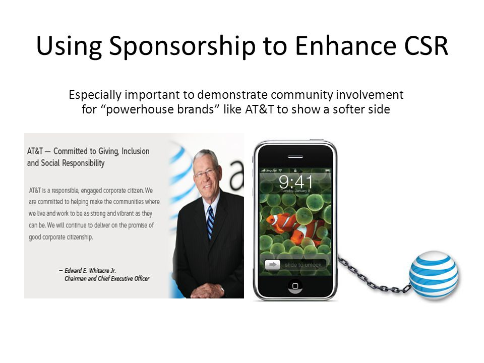 Using Sponsorship to Enhance CSR