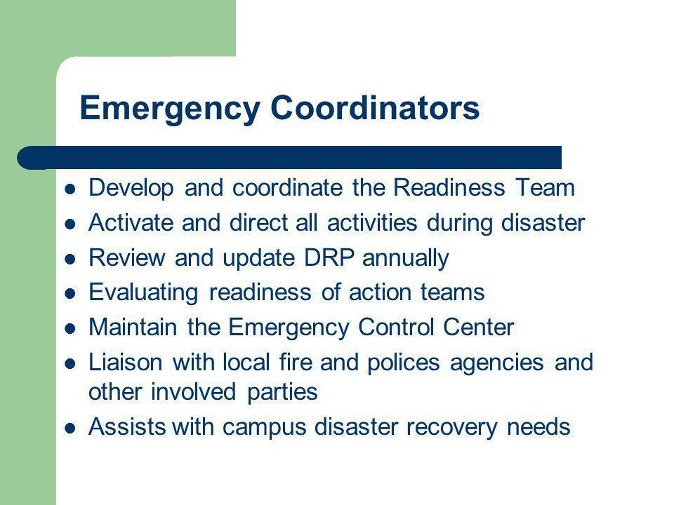 Emergency Coordinators